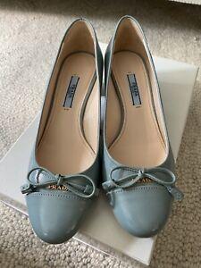 Prada Shoes | Prada Patent Leather Peep Toe Platform Heels