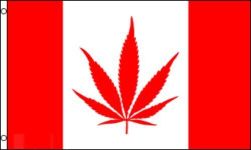 "/""CANADIAN MJ/"" flag 3x5 ft canada marijuana herb legalize pot"