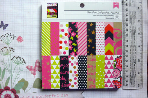 6 Ea Speciality Designs Sngl Sided Hvy Cardstock AC NEON 6x6Pk 12 Designs 2 Ea