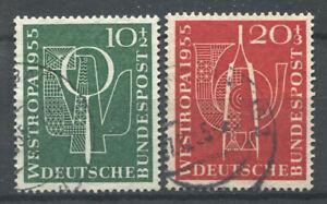 Bund-1955-Mi-217-218-Gestempelt-100-Westropa-Philatelie-Exposition
