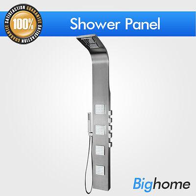 "Brand New 61""Stainless Steel Shower Panel 8816 Rainfall Bath Tower Spray Spa Jet"