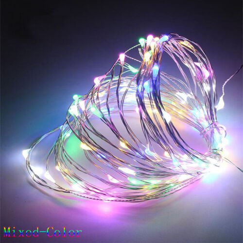 LED Copper Wire Fairy String Lights Christmas Tree Party Waterproof Battery Top