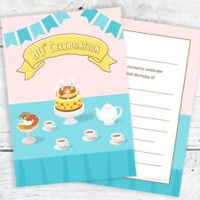 80th Birthday Invitations Tea Party
