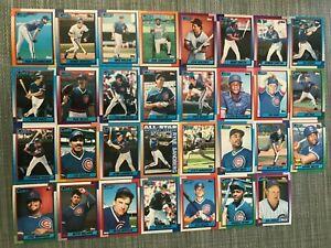 1990-CHICAGO-CUBS-Topps-COMPLETE-Baseball-Team-Set-31-Cards-SANDBERG-x2-MADDUX