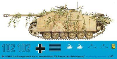2.PzDiv Russia 1943 1139 Peddinghaus 1//16 Panther Ausf.G Tank Markings 2.PzRg