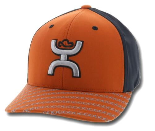 HOOey Hat Baseball Cap SOLO III Flex Orange Black 1721ORBK