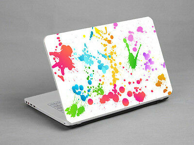 """15.6""""  Laptop Notebook Sticker Cover Decal Colorful Pigment Toshiba Gateway HP"""