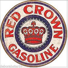 Garage Tin Sign RED CROWN GAS GASOLINE Vintage Metal Sign Retro Tin Sign 1899