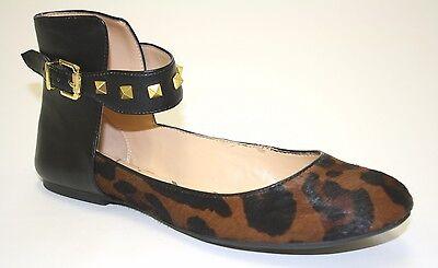 Womens Jessica Simpson MUNNEY 2 Ballet Flats Black Brown Simba Leopard Studs