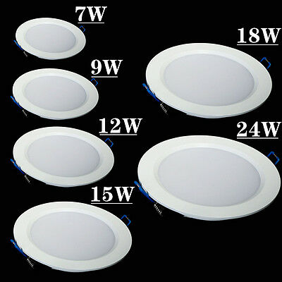 Panel light with driver 7w/9w/12w/15w/18w/24w Recessed Ceiling LED Down Lights