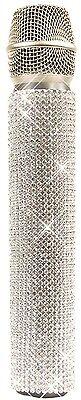 Goedkope Verkoop White Diamonds A-grade Crystal Rhinestones Slip-on Micfx Microphone Sleeve Cover Kan Herhaaldelijk Worden Omgedraaid.