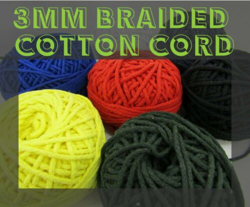 Braided Cotton Cord Cotton String 3mm Drawstring Cord Macrame Cord Rope String