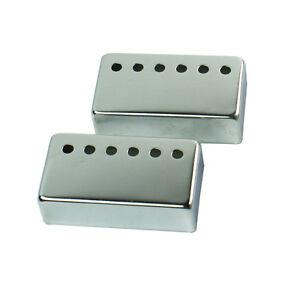 All-Metal-Humbucker-Pickup-Cover-Set-50-52mm-Pole-Spacing-Chrome-USA