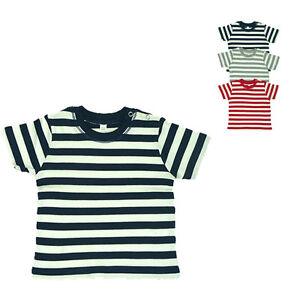 Babybugz Baby T-Shirt BABY STRIPY T Rundhals Kurzarm Gestreift Neu BZ02S