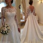 New lace wedding bridal gown dress custom size 6-8-10-12-14-16 inventory