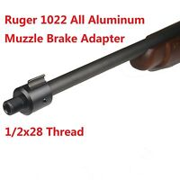 Ruger 1022 10-22 Muzzle Brake Adapter 1/2x28 Thread + 1/2x28 Thread Protector