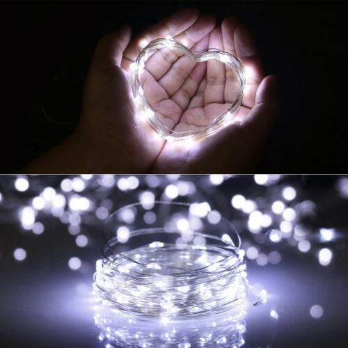 LED String Fairy Lights 4 Set Waterproof Warm White 20-100LED Battery Powered US