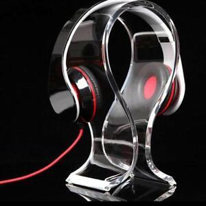 Black-Acrylic-game-Headphone-Headset-Hanger-Holder-Desk-Display-Stand-Shelf