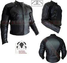 Deadpool stile da uomo Nero CE PROTEZIONE MOTO MOTOCICLETTA Giacca in pelle
