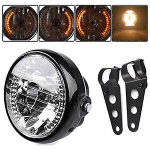 Universal-7Inch-Motorcycle-Headlight-LED-Turn-Signal-Light-Mount-Bracket-P-Y