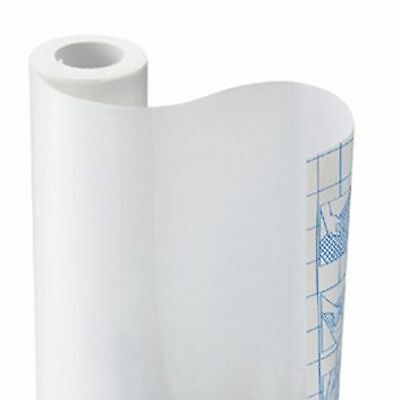 """Solid Black or White contact wall paper Shelf liner peel & stick 9' x 18"""""""