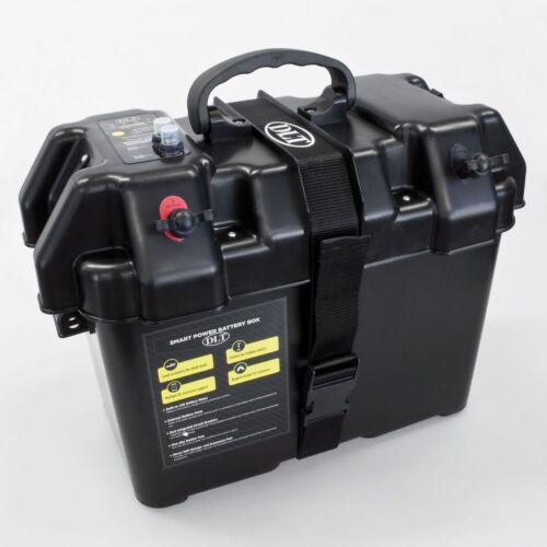 DLT Power Box Set mit 12V//24V Digital Ladegerät Batteriebox Batteriekasten