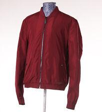 NWT BURBERRY BRIT 'Brentfield' Crimson Burgundy Windbreaker Jacket XL Modern-Fit