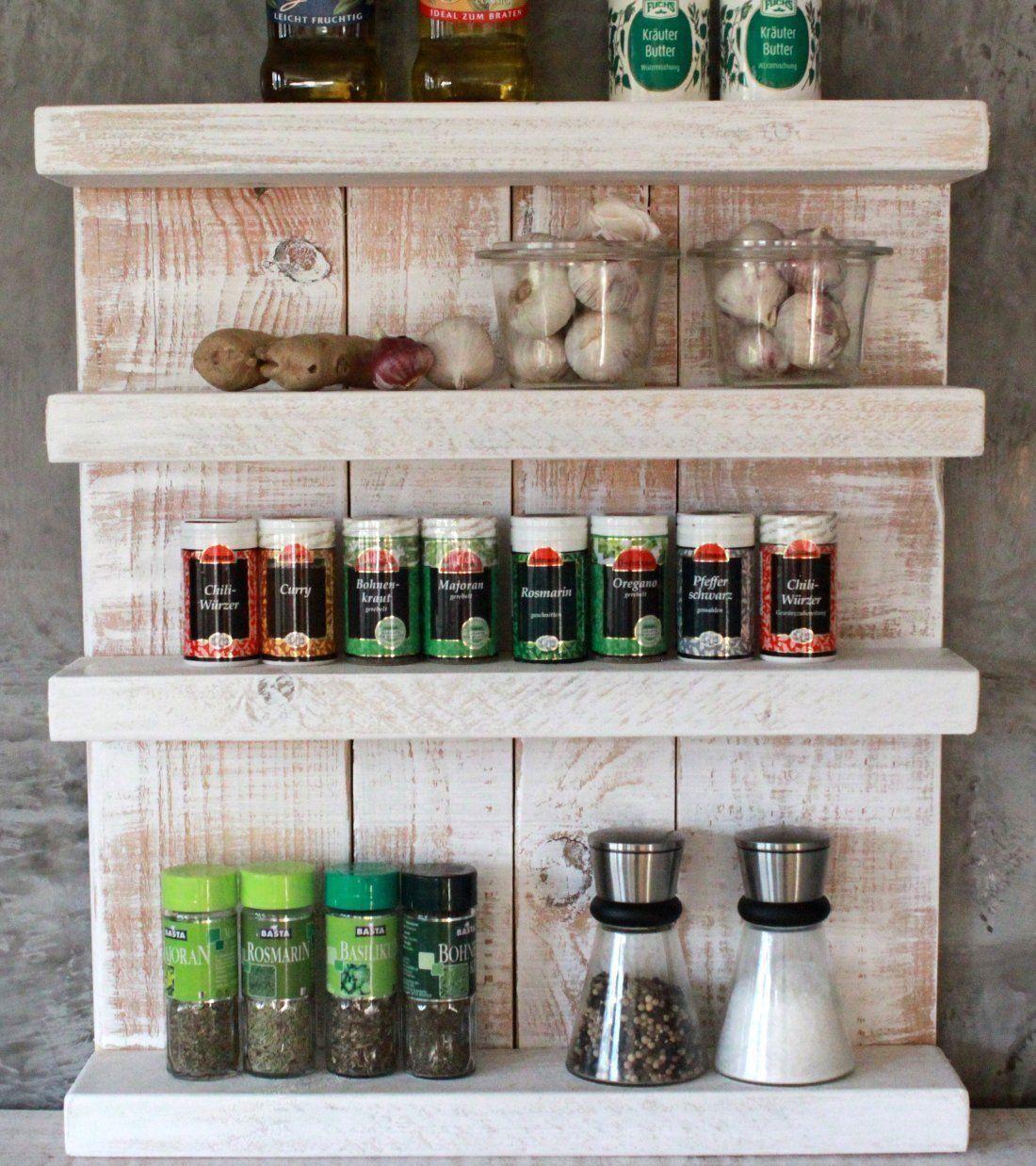 Shabby étagère à épices vintage à épices support étagère de cuisine à épices Board Bain étagère Blanc