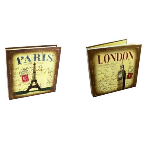 "LONDON /& PARIS City Town Print 100 Fotos Recuerdos Álbum 6/""x 4/"" Mangas De Acetato"