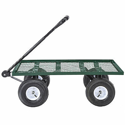 660lbs Garden Wagon Nursery Cart Wheelbarrow Steel Trailer Heavy Duty 699968678798 Ebay