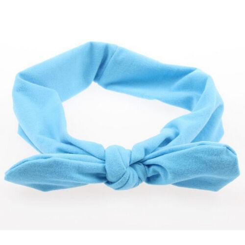 Women Yoga Elastic Cute Bow Hairband Turban Knotted Rabbit Hair Band Headband YH