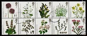 Gran-Bretana-2009-Endangered-plantas-juego-10-MATASELLADO