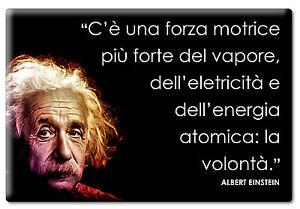 Dettagli Su Magnete Magneti Frigo Calamita Aforismi Albert Einstein Frasi Citazioni Famose
