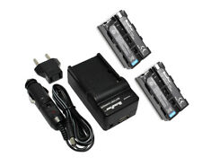 Refuelergy BATTERIES x2 + Charger for Neewer CN-160 LED Video Light