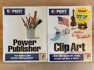 New Sealed VTG Clickart Clip Art Software- Power Publisher 1994 Windows Rare