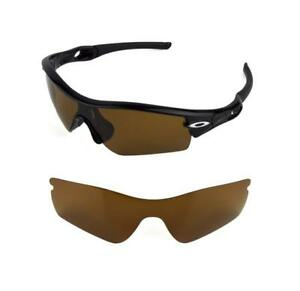 35b8bcebd4 Details about NEW POLARIZED BRONZE REPLACEMENT LENS FOR OAKLEY RADAR PATH  SUNGLASSES