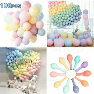 Pack-of-100-Macaron-Candy-Colored-Party-Balloons-Pastel-Latex-Balloons-10-Inch