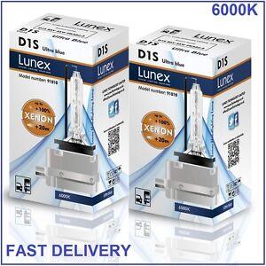 2-x-D1S-LUNEX-XENON-LAMPARAS-6000K-BOMBILLA-compatible-con-66043-66144-85410-UB