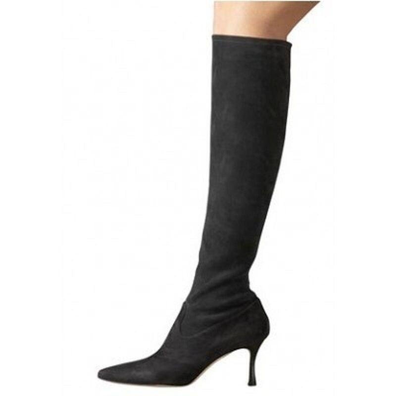 1495 NEW Manolo Blahnik PascalareTall PascalareTall PascalareTall Stretch marron Suede Knee bottes chaussures 36.5 75dfbe