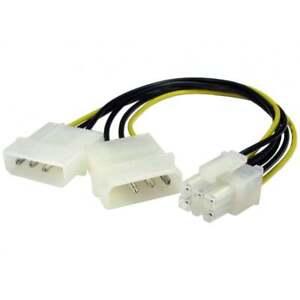 2-Molex-a-Pin-6-PCI-Express-Tarjeta-Grafica-Pci-E-Cable-de-Alimentacion