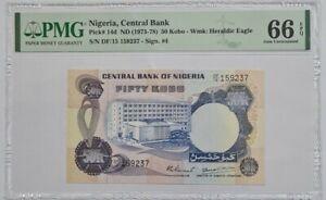 1973 -78 NIGERIA 50 Kobo PMG66 EPQ GEM UNC {P-14d}
