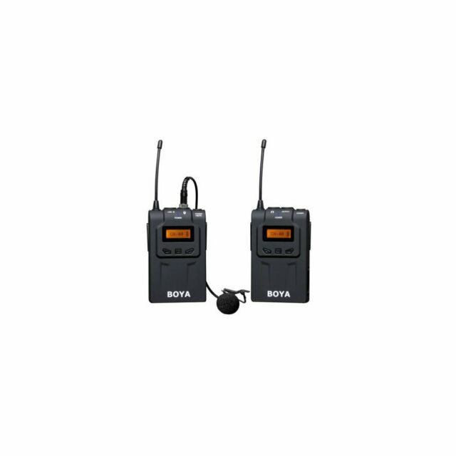 Boya By Wm6 48 Channel Uhf Wireless Lavalier Microphone System