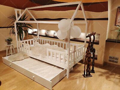 lit cabane avec barrière 5 Jours Mon Lit cabane Lits maison lit d/'enfant