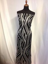 "NEW Designer Silk / Viscose Marocain Satin Crepe Abstract Fabric 55"" 141cm Karen"