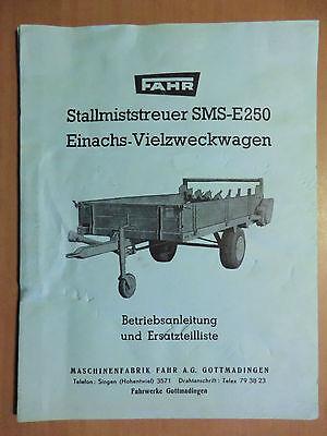 Fahr Prospekt 02//1961 197702 Stallmiststreuer SMS