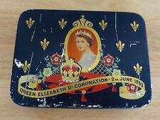 Vintage CADBURY'S Queen Elizabeth II Coronation Tin 1953 (Empty)