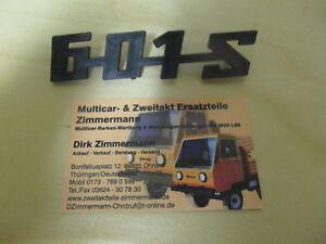 Trabant  Schriftzug 601S 601 S Kunststoff schwarz Original DDR Neu IFA