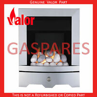 Valor Seattle Inset Gas Fire Pebble Brushed Silver Finish 0595603