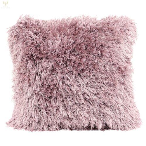 "Luxury Glam Shaggy Thick Heavy Décor Cushion Shimmer Deep Pile Quality 17/"" /& 22/"""
