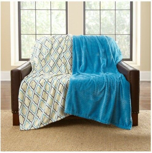 Women Owned BRAND 2pk Oversize Lounge Blanket Throw 60x70  Soft Comf